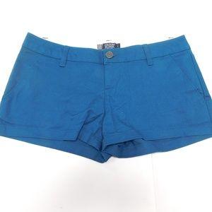 Volcom 3 Blue Mini Shorts  Cotton Blend